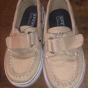 Sperry shoes in khaki canvas 7.5T
